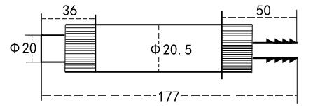 上海嘉沪LZY-阳极转子流量计尺寸图